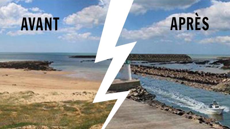 La plage après: montage