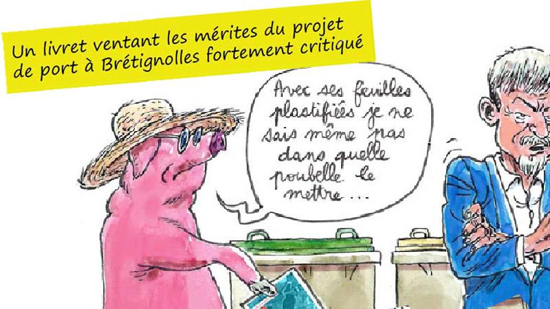 Un livret ventant les mérites du projet de port à Brétignolles fortement critiqué…